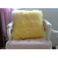 Best Shearling Sheepskin Lambswool Seat Cushion Double Sided For Bed / Sofa Decorative wholesale