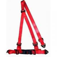 Best Buckle Style Red Racing Safety Belts With Bolts / 3 Point Retractable Seat Belts wholesale