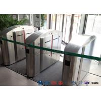Cheap Flap Barrier Gate TCP / IP Flap Turnstile Security Gate Access Control Wheelchair Lanes For Subway Doors for sale
