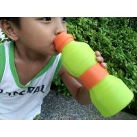 Best Leak Proof  Protable Green Silicone Foldable Sports Drinking Bottle For Kids wholesale