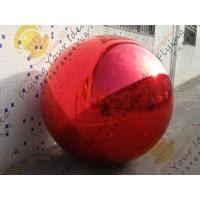 Best Inflatable Helium Advertising Balloon , Pvc Red Mirror Balloon wholesale
