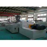 Best Computer Control PVC Pipe Extrusion Line , Twin Screw Pvc Tube Making Machine wholesale