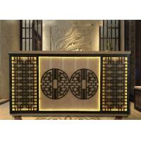Best Chinese Style Reception Desk Display Case With Beautiful Hollow Carving Light wholesale