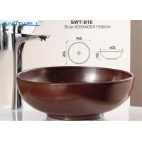 Buy cheap Standard size 405*405*150mm hand wash ceramic basin for bathroom from wholesalers