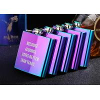 Best Colorful Stainless Steel Wine Bottle Womens Hip Flask Western Style wholesale