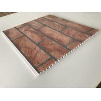 Best Brick Decorative Plastic Wall Panels Hot Stamping X Hollow Core Structure wholesale