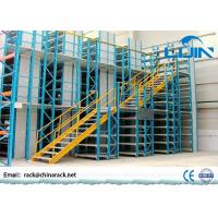 Quality Workshop Multi - Layer Powder Coating Rack Supported Mezzanine Floor With Walkways wholesale