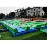 Best Straight Inflatable Double Slip And Slide With Pool Customized Size Easy Install wholesale
