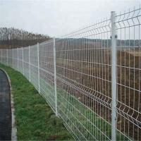 Buy cheap 200*50mm Dark Green PVC Coated 3D Curved Wire Mesh Fence for Farm from wholesalers