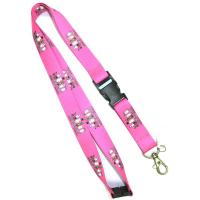 China cheap Chinese supplier cartoon character lanyard with buckle and dog hook 92 cm on sale
