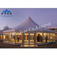 Best Octagon Hotel Bell Tent Easy Assembled With Light Frame Steel Structure wholesale