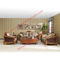 Best European Country Style Classic Solid Wooden Sofa Made by Italy Leather and Fabric Sofa Set wholesale