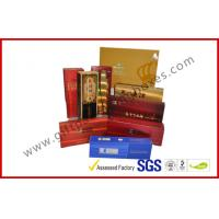 Best Rectangle Handmade Rigid Board Cigar Gift Boxes , Custom 157g Coated Paper E Cigar Packages wholesale