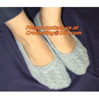 China Lady Winter Indoor Hand Knitted Slipper Sock,hand knit sock,Knitted Wool Sock on sale