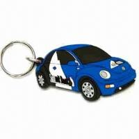 Best Car Shape Keychain, Made of Soft PVC, Customized Designs are Welcome, Measures 40 x 30 x 35cm wholesale