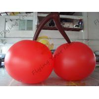 Best Red PVC 3m High Cherry Shaped Balloons For Trade Fair Display wholesale