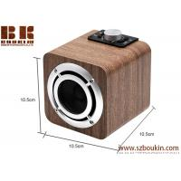 China fm radio tf card aux audio 8w hifi super bass stereo sound system wood ibastek multimedia  speaker on sale
