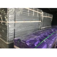 Best Construction Site Temporary Fencing Panels OD 32mm wall thick1.2mm Mesh 60mmx150mmxr2.5mm Violet & Purple Fence base wholesale