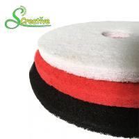 Best Polyester Polishing Pad For Dry Concrete , Marble Floor Cleaning Pad Wear Resistant wholesale
