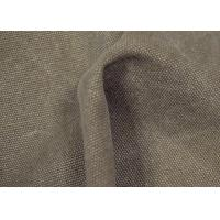 Best Anti - Cracking Washed Canvas Fabric 32 X 22 Density For Sports Shoes wholesale