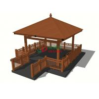 Best Wood plastic Composite Custom Made Gazebo Waterproof Weather Resistant seaside platform wholesale