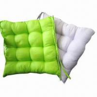 Cheap 100% cotton solid color chair cushions in various patterns for sale