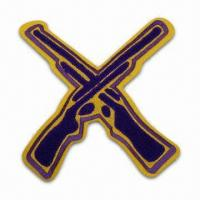 Best Customized Make Chenille Patch/Badge for Sale, Can be Made with Embroidered Logo wholesale