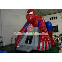 Best Spiderman Inflatable Bouncer Jumping / Blow Up Bounce House For Children Play wholesale