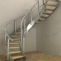 Best Modern Luxury  Steel Curved Structure Staircase wholesale
