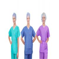 EO Sterile Anti Static Disposable Scrub Suits Anti Bacteria Non Toxic 30 - 60 GSM