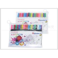 China Non Toxic PP Plastic Fabric Paint Pen , 2.0 MM Fiber Tip Permanent Fabric Markers on sale