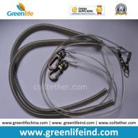 Best Elastic Safety Lanyard Coiled Tether Strap W/Metal Snap Hooks wholesale