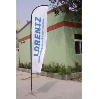 Cheap Double / Single Side Printing Outdoor Advertising Sail Banners 100% 110g Polyester for sale