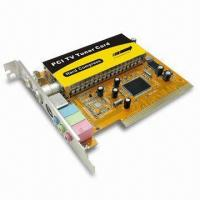 China Analog TV Tuner Card with S-Video, PCI, FM Radio, and Remote Control on sale