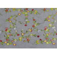 Best Soft Colored Embroidered Floral Lace Fabric / Net Lace Fabric For Women Wedding Dress wholesale