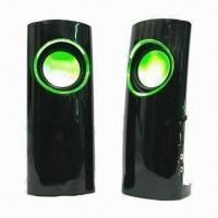 China USB Speaker, Various Firefly Colors are Available, with High Level Rubber and High-glass Face Finish on sale