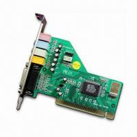 China PCI Sound Card with CMI8738 Chipset, Supports DOS and Microsoft's Windows 2000/Me/NT/Linux OS on sale