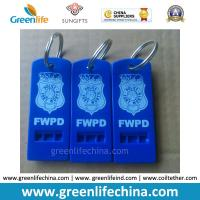 Best Hot Selling Blue Whistle Flat Type w/Custom Logo Imprinting Key Ring wholesale