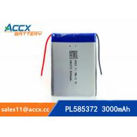 Best 585372 3000mAh lithium polymer battery for digital products 3.7V with PCM protection wholesale