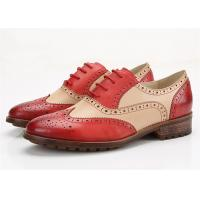 Best Color Blocking Comfortable Trendy Shoes Womens Brogues Oxfords Low Heel Type wholesale