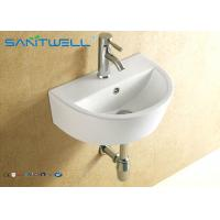 Best Small counter type hand wash basin wall hanging ceramic white 445*330*155 mm wholesale