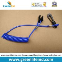 Best Blue Expanding Coil-style Jet Ski Safety Spring Leash w/J-hook&Stop Switch Tool wholesale
