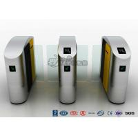 Best 304 Stainless Steel Flap Barrier Gate Sliding Waist Height Turnstiles With DC Brush Motor wholesale