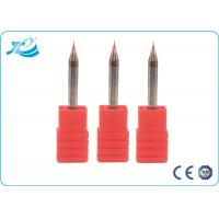 Quality 2 Flute Mirco Diameter CNC Ball Nose Endmill , Carbide Cutting Tools Tungsten wholesale