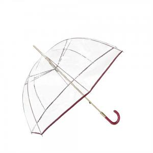 China PVC Clear Windproof Straight Handle Umbrella Acrylic Handle on sale