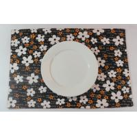 Buy cheap Oriental Brown Floral Dining Table Mats Kitchen Table Placemats from wholesalers