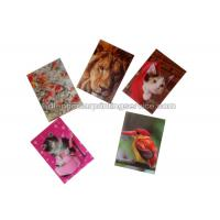 Cheap Small Size Adhesive 3D Lenticular Stickers PET/ PP Printing For Key Chain for sale