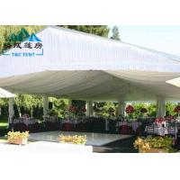 Best Custom Printed Romantic Wedding Tents High Peak Waterproof PVC Fabric wholesale