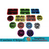 Best 12g Bright Color Crystal Acrylic Poker Chips High Wear Resistance wholesale