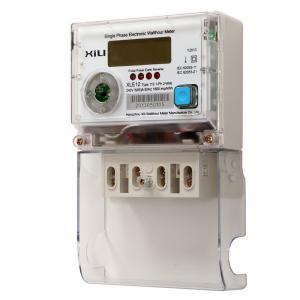 Buy cheap Single Phase Multifunction Energy Meter / Polycarbonate digital electronic energy meters from wholesalers